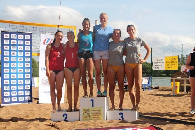 Johanne Vazart et Blandine Provost vice-championnes de France U de beach-volley