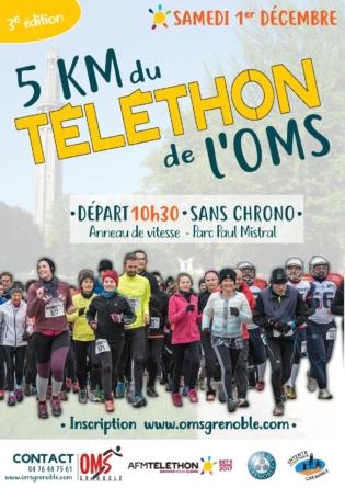5 km du Téléthon de l'OMS le samedi 1er décembre
