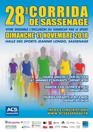 Rendez-vous le 11 novembre pour la Corrida de Sassenage