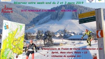 Championnats de France d'Orientation à ski à Autrans – Méaudre les 2 et 3 mars