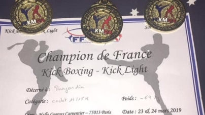 Sirajoudin MAIRKAEV champion de France cadets de kick-boxing