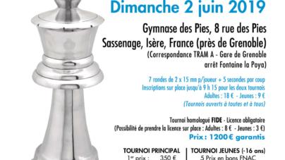 Échecs : 4° Open de Sassenage le 2 juin