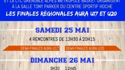 Les finales U17 et U20 masculin de la Ligue AURA auront lieu à Grenoble les 25 et 26 mai
