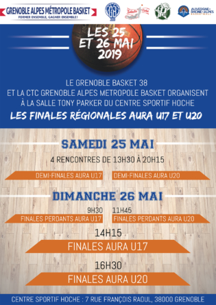 #Basket – Les finales AURA U17 et U20 se disputent ce week-end à Grenoble