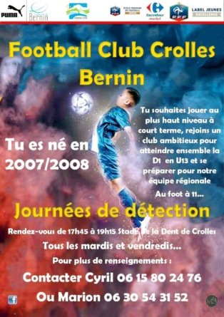 Journées de détection au FC Crolles Bernin