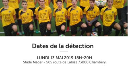 Nouvelles dates de détection pour le Chambéry Savoie Football