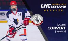 Le LHC annonce l'arrivée de Lauric Convert