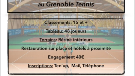 Un nouveau tournoi TMC U18 au Grenoble Tennis jusqu'à lundi