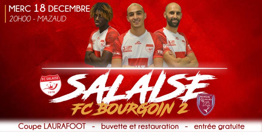Coupe LAURA : le derby Salaise – FC Bourgoin-Jallieu B se dispute ce mercredi soir