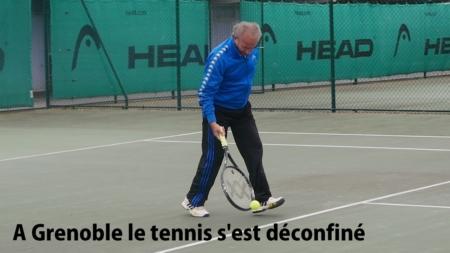 A Grenoble, le tennis s'est déconfiné