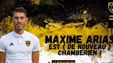 Le Chambéry Savoie Foot officialise une 2nde recrue