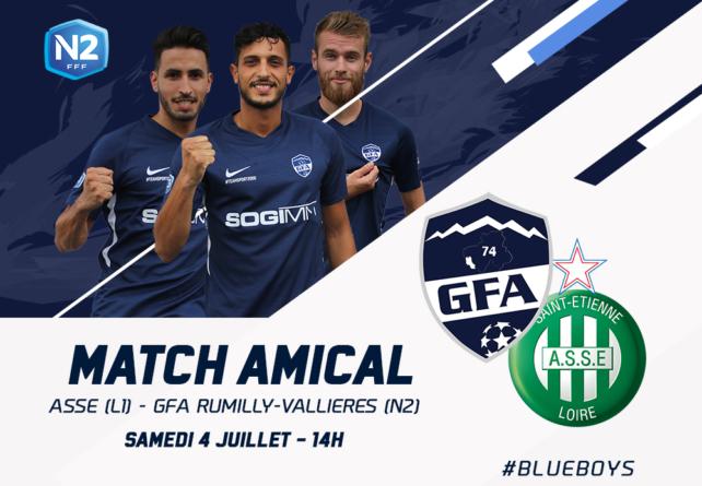 Rumilly Vallières affrontera l'AS Saint-Etienne en préparation !