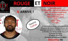 Taiasina Tuifu'a (FC Grenoble) rejoint Tournon-Tain