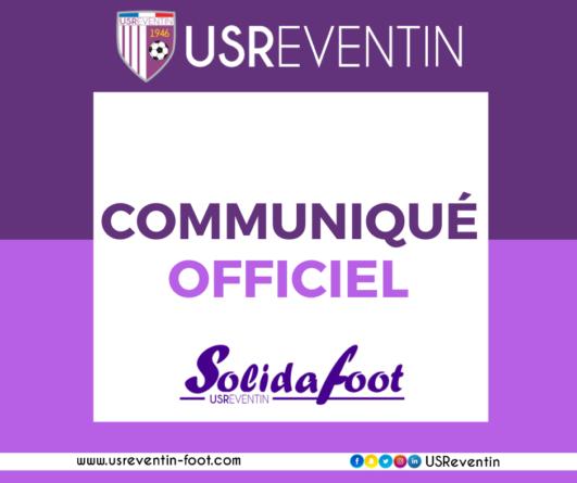 [Communiqué] Solida'Foot se déroulera bien ces 19 et 20 septembre