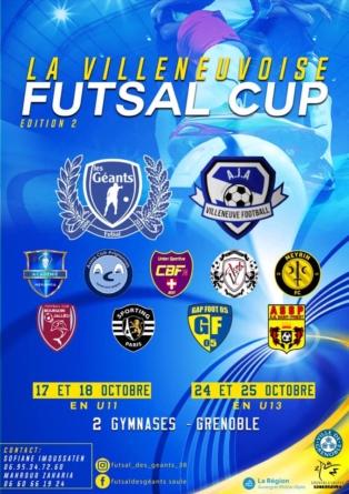 Villeneuvoise Futsal Cup U11 : la composition des poules