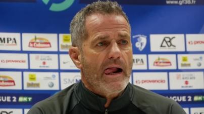 Philippe Hinschberger avant Clermont – GF38 en coupe de France