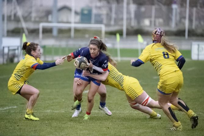 Alexandra Chambon (Amazones FCG) dans le groupe pour Irlande – France