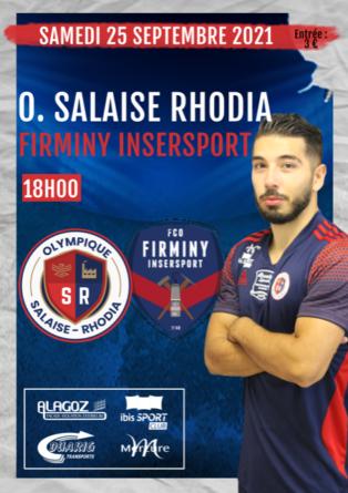 [Communiqué] Salaise Rhodia reçoit Firminy ce samedi