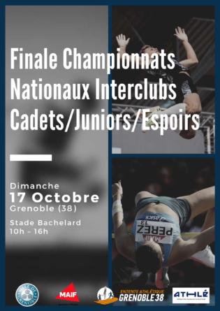 [Communiqué] Finale des championnats Nationaux Interclubs Cadets/Juniors/Espoirs à Grenoble